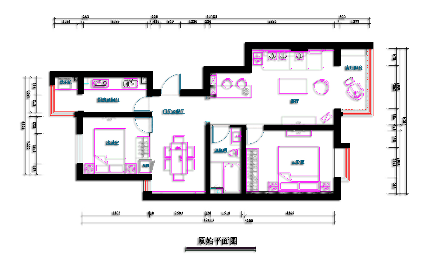 简约 地中海 二居 白领 小资 户型图图片来自北京老房装修-今朝装饰王丽在龙湖香醍漫步恋上地中海的分享