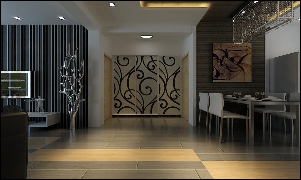 二居 现代 时尚 小资 客厅 餐厅 餐厅图片来自百家装饰-小敬在凯旋门的分享