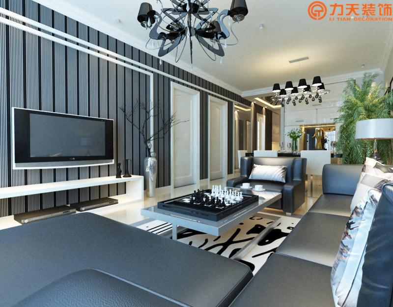 简约 二居 客厅图片来自阳光力天装饰在华润橡树湾-95㎡-简约风格的分享
