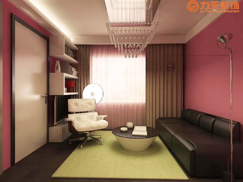 简约 一居 客厅图片来自阳光力天装饰在中信公园城-54㎡-现代简约的分享