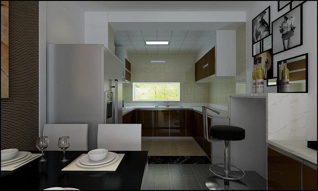 二居 现代 时尚 小资 客厅 餐厅 厨房图片来自百家装饰-小敬在凯旋门的分享
