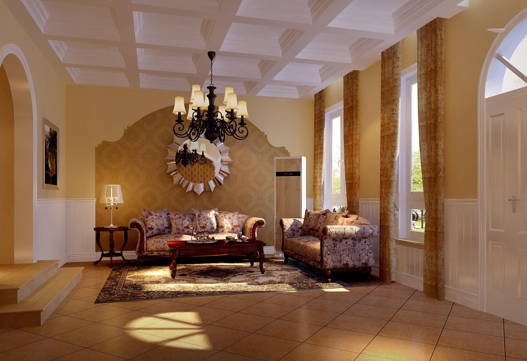 美式 客厅图片来自框框在200平米美式田园的分享