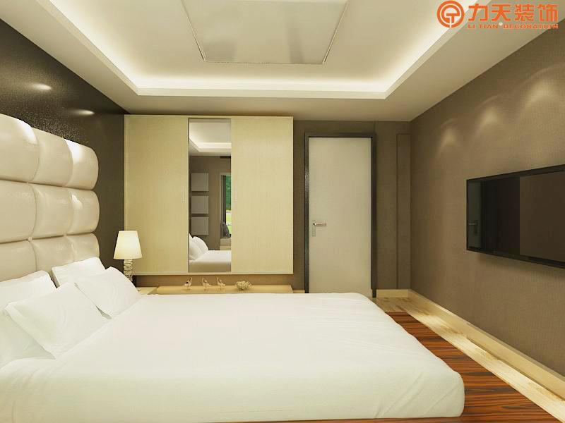 简约 一居 卧室图片来自阳光力天装饰在中信公园城-54㎡-现代简约的分享