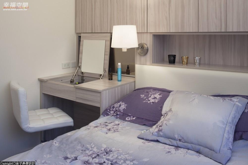 旧房改造 时尚 木地板 二居 当代 现代 混搭 收纳 卧室图片来自幸福空间在真实体验70m²幸福温度的分享
