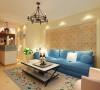 只是将地中海典型的一些元素融入其中,将居室的氛围营造出更加柔和的色调。
