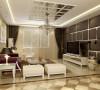 首先把客厅作为切入点来体现整个方案,客厅我则整体选择了暖色系为主,咖色的皮质软包电视背景配以金属感强烈的不锈钢条让整面墙表