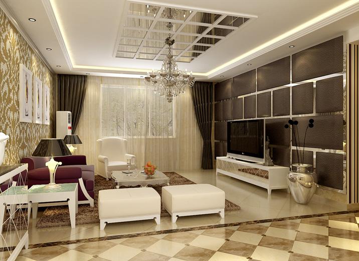 欧式 三居 白领 旧房改造 现代简约 实创装饰 装修效果图 客厅图片来自实创装饰集团-家装部在留洋女孩的现代奢华生活的分享