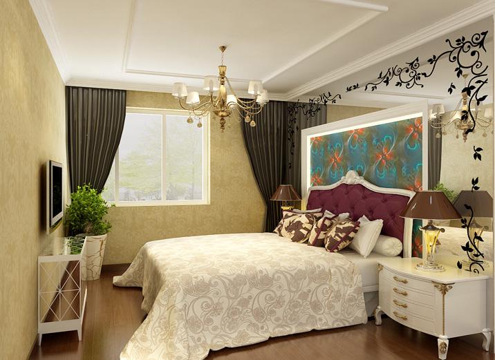 欧式 三居 白领 旧房改造 现代简约 实创装饰 装修效果图 卧室图片来自实创装饰集团-家装部在留洋女孩的现代奢华生活的分享