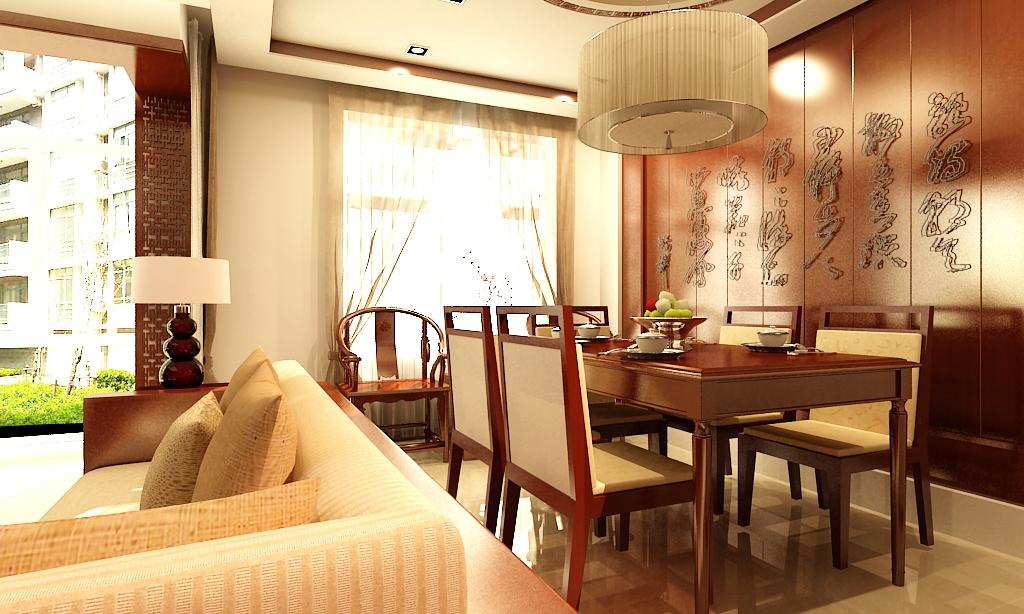 新中式风格 龙湾城 腾虹装饰 装饰装修 天津腾虹装 餐厅图片来自天津荣欣弘馆工程有限公司在龙湾城两室一厅中式风格的分享