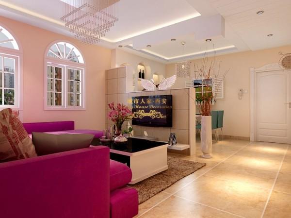 西安城市人家-缤纷南郡-现代简约-119.3平米三居室装修设计