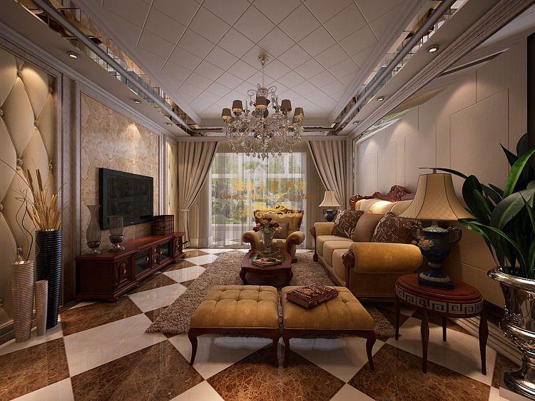 客厅图片来自西安城市人家装饰在欧式风格140平米三居室装修设计的分享