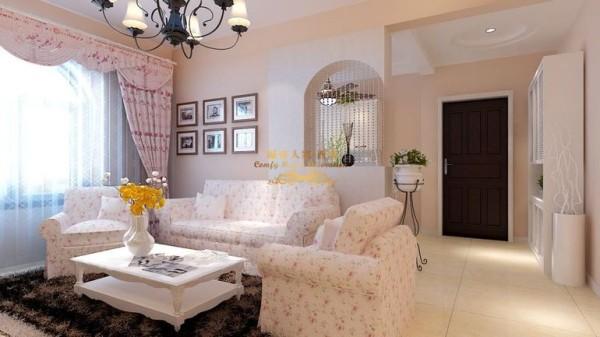 西安城市人家-灞业大境地中海风格二居室装修设计