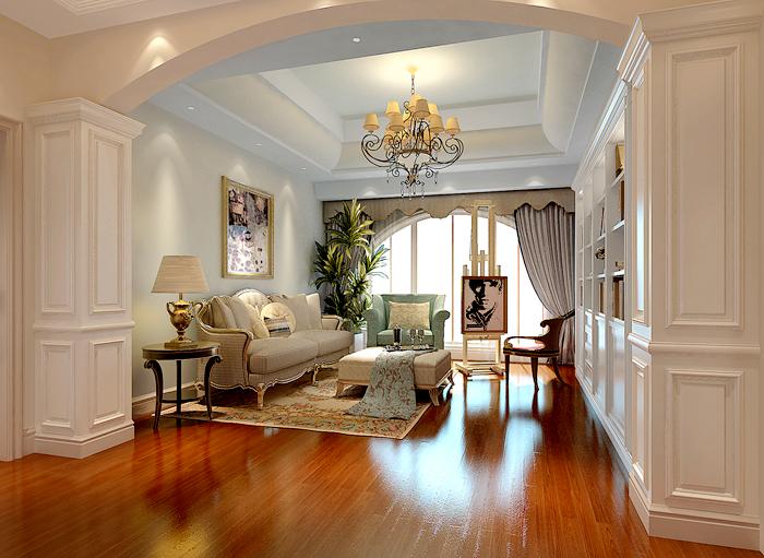 美式 别墅装修 欧式装修 别墅 客厅图片来自北京别墅装饰在保利垄上欧式装修案例的分享