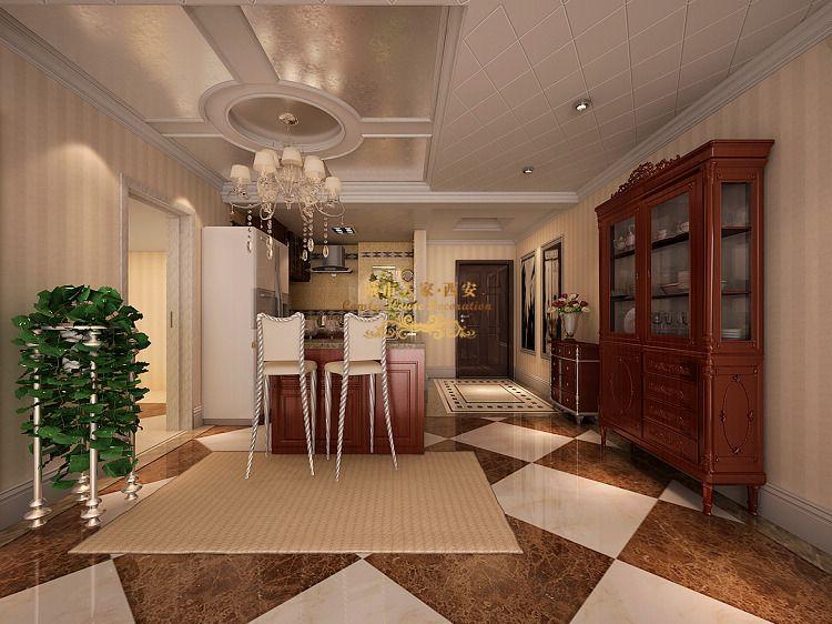 餐厅图片来自西安城市人家装饰在欧式风格140平米三居室装修设计的分享
