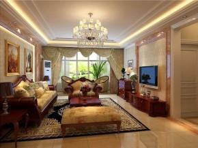 欧式古典 田园 高富帅 客厅图片来自北京合建装饰在欧式古典的田园美家的分享