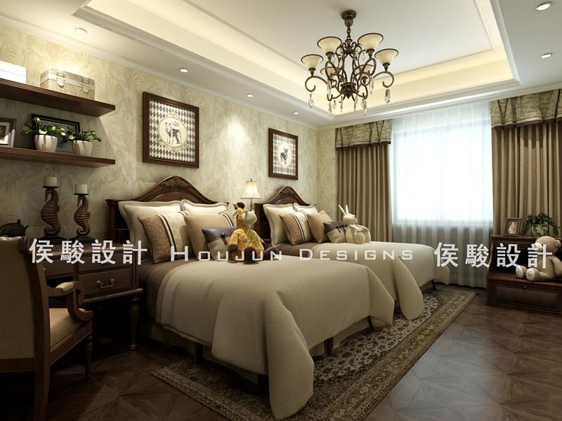 简约 别墅 白领 收纳 小资 80后 卧室图片来自武汉实创装饰公司晓燕在209平华润悦府美式风格的分享