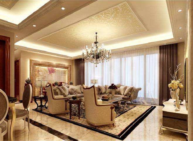 欧式 三居 收纳 客厅图片来自上海实创-装修设计效果图在乾耀东港欧式风格装修的分享