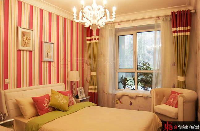 三居 小资 别墅设计 卧室图片来自東合設計在优雅白调的分享