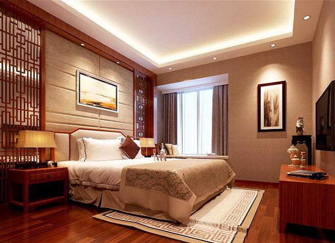 欧式 三居 收纳 卧室图片来自上海实创-装修设计效果图在乾耀东港欧式风格装修的分享