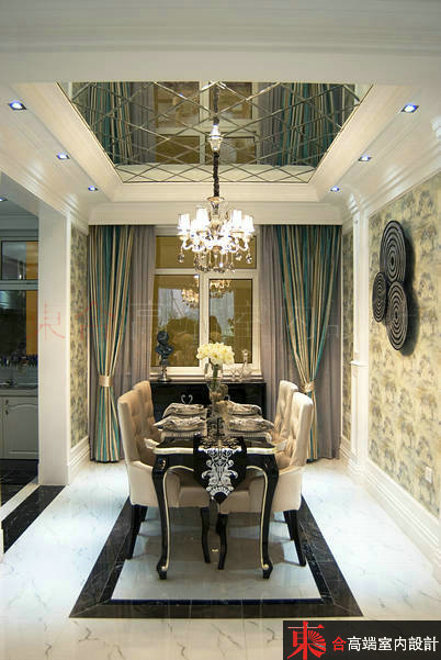 三居 小资 别墅设计 餐厅图片来自東合設計在优雅白调的分享