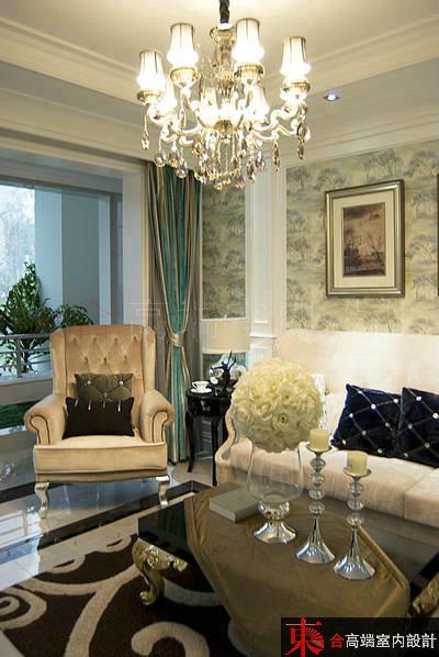 三居 小资 别墅设计 客厅图片来自東合設計在优雅白调的分享