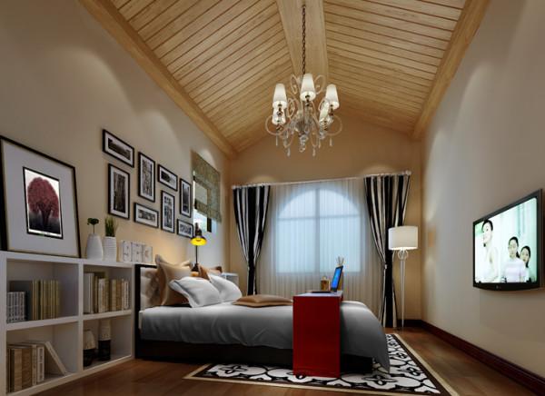 把原来不规则的吊顶,现以生态木的形式做装饰,给空间带来更多的灵活性,使整个空间看起来更有生气。照片墙的装饰,增添了家的温馨,也给素雅的墙面增添活力。