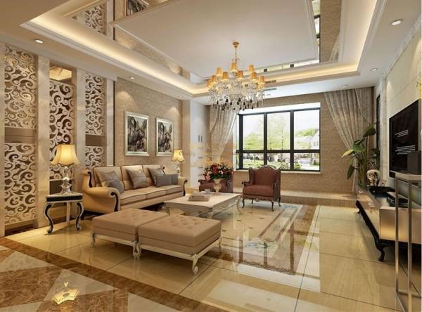 泾欣苑简欧风格148平米三居室装修设计