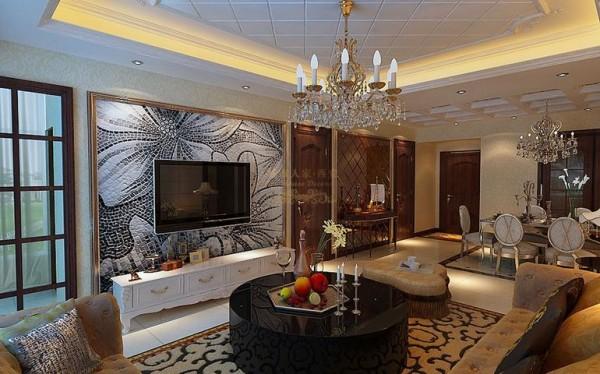 中华世纪城简欧风格140平米三居室装修设计
