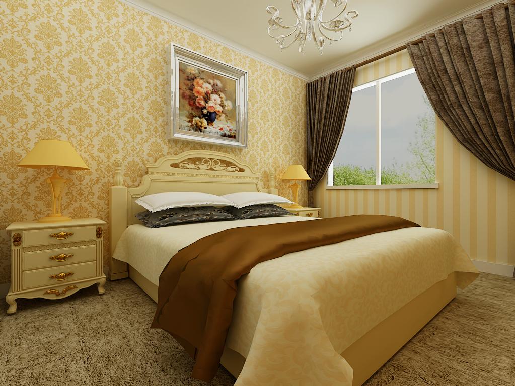 简约 三居 卧室图片来自百家设计小刘在保利达江湾城143平效果图的分享