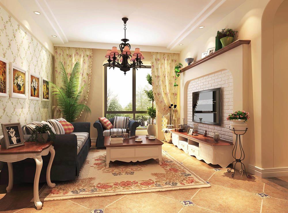 田园 国风美仑 二居 两居装修 装修 简约风格 实创 实创装饰 白领 客厅图片来自北京实创装饰在国风美仑80平米简约风格装修的分享