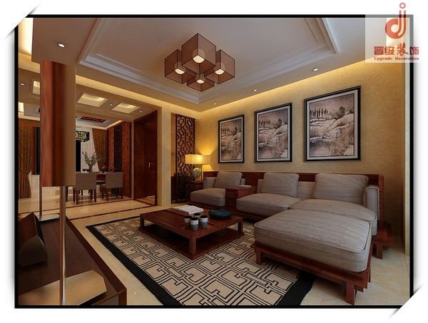 客厅设计效果-古典中式