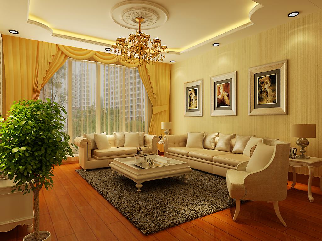 简约 三居 客厅图片来自百家设计小刘在保利达江湾城143平效果图的分享