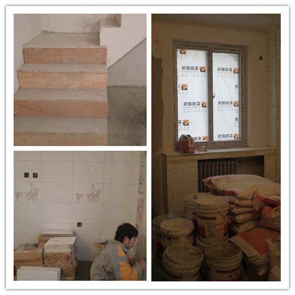 此套案例是徐汇臻园160平复式二手房翻新,以上是施工中的照片