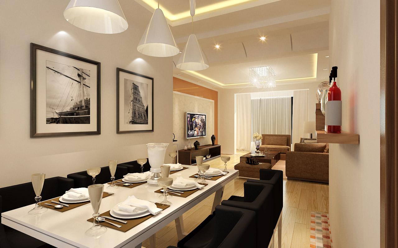 简约 欧式 混搭 三居 餐厅图片来自张竟月在保利达江湾城的分享