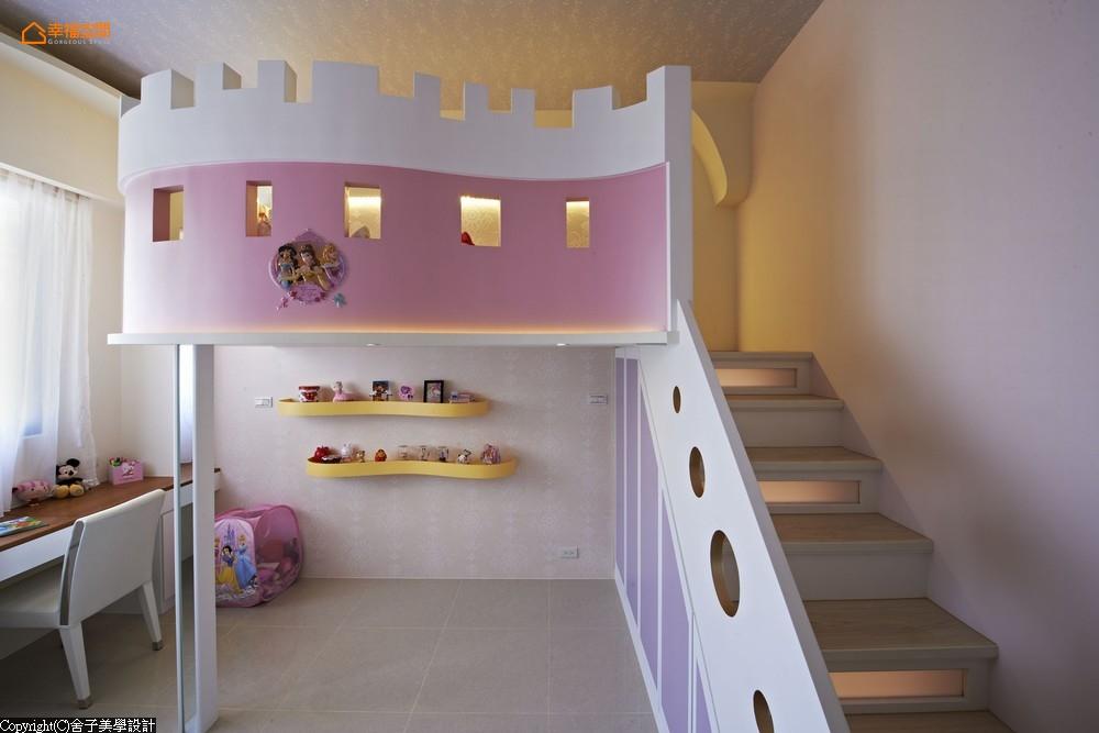 新古典 美式 女孩 三居 收纳 白领 儿童房图片来自幸福空间在美式轻古典135平感动空间故事的分享