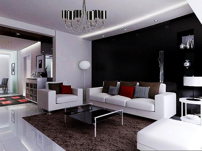 简约 现代 客厅图片来自业之峰装饰旗舰店在小清晰的现代简约的分享