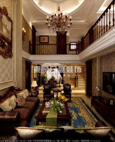 欧式 古典 洋房 别墅 大宅 东易日盛 远洋和平府 远洋 王妍 客厅图片来自沈阳东易日盛在远洋和平府的分享