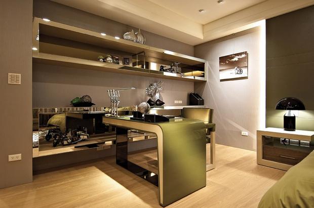 简约 欧式 书房图片来自业之峰装饰旗舰店在简欧风格高端奢华的居住空间的分享