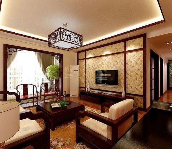 西安城市人家-紫郡长安120平米三居室装修设计