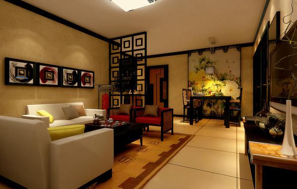 客厅的装饰则相对于简约雅致一些,檀木雕花风屏,中现代结合的沙发用品,都给人一种古风简约缩特有的文化内涵。