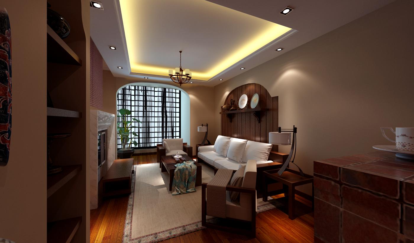 混搭 白领 收纳 旧房改造 80后 小资 东南亚风情 客厅图片来自北京实创装饰集团在5.7万大开间-浓厚东南亚风的分享