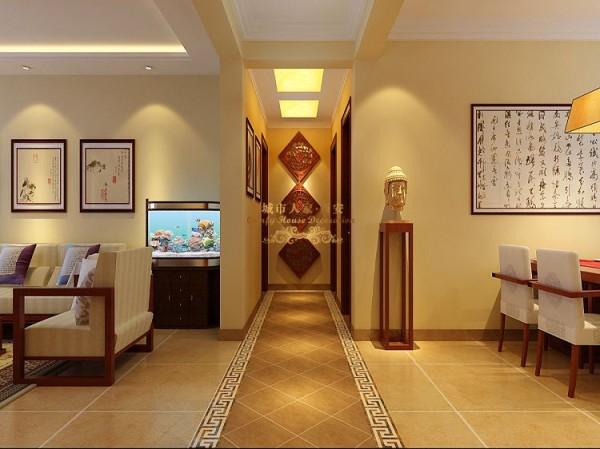 西安城市人家-莱安逸珲-中式风格-139平米四居室装修设计