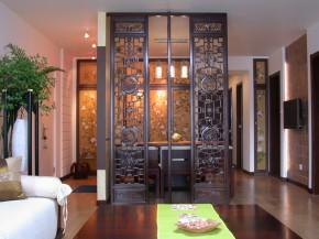白领 新中式 三居 80后 中式 旧房改造 文艺青年 收纳 客厅图片来自北京实创装饰在【精致】180㎡新中式三居装修的分享