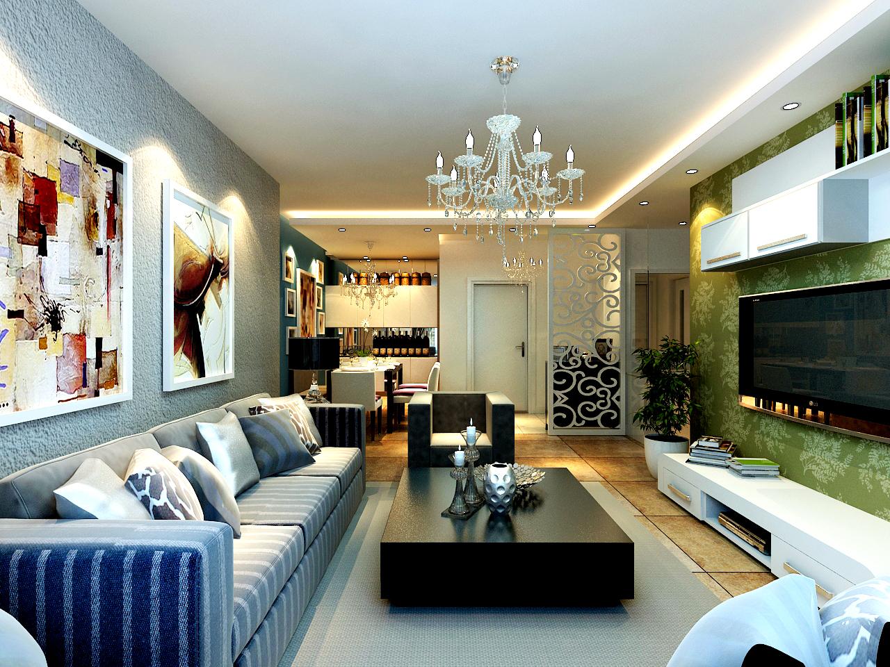 天津 今朝 简约 客厅图片来自今朝小涵_在原色搭配,7w打造画感两居室的分享