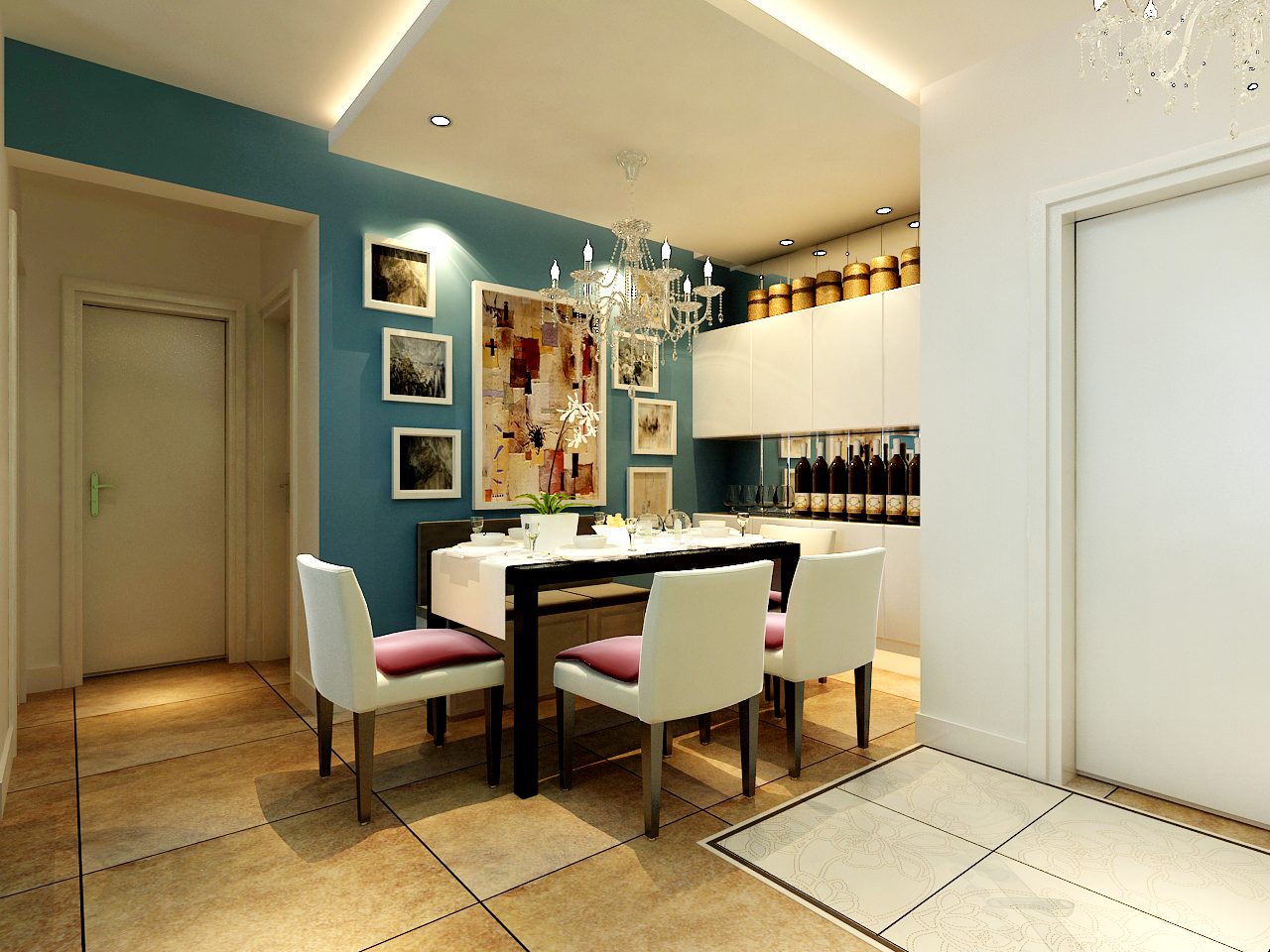 天津 今朝 简约 餐厅图片来自今朝小涵_在原色搭配,7w打造画感两居室的分享