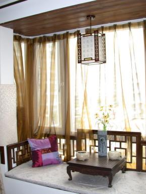 白领 新中式 三居 80后 中式 旧房改造 文艺青年 收纳 阳台图片来自北京实创装饰在【精致】180㎡新中式三居装修的分享
