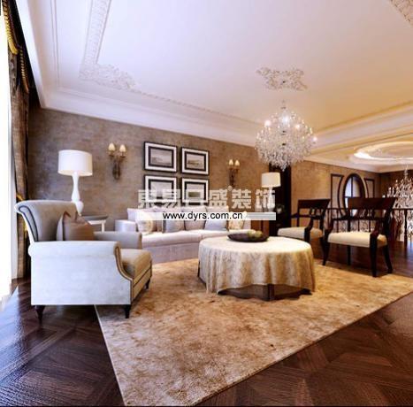 欧式 古典 联排别墅 别墅设计 远洋和平府 东易日盛 客厅图片来自沈阳东易日盛在远洋和平府联排别墅的分享