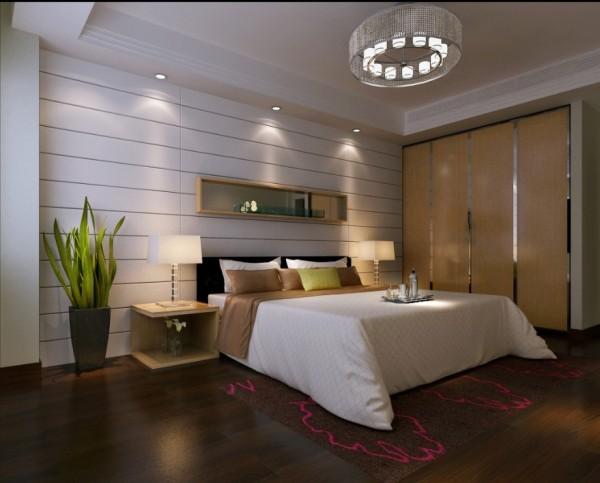 同样是简单大气的设计,只是增加了暖色调的灯光设计,诱惑主人扑到床上好好的休息一下。同时搭配素色的环境,让感性中多了一丝理性。