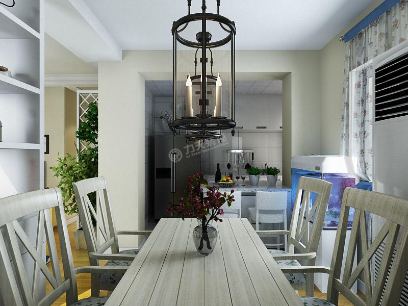 田园 二居 餐厅图片来自阳光力天装饰在盛世年华-70㎡-现代田园的分享