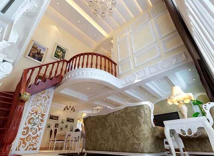 欧式 田园 别墅 白领 80后 小资 楼梯图片来自实创装饰百灵在欧式田园184平米通州物资学院的分享